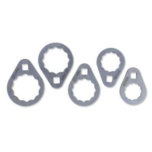 1493B/S5 - Serie di 5 chiavi poligonali per cartucce filtri olio di difficile accesso