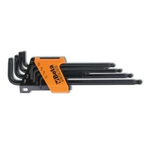 97BTXL/SC8 - Serie di 8 chiavi maschio piegate con un'estremità sferica, modello lungo per viti con impronta Torx®