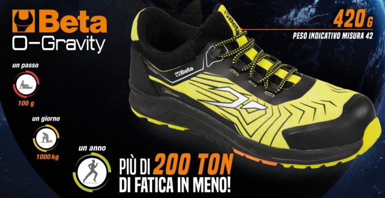 O-Gravity la scarpa da lavoro più leggera che c'è!