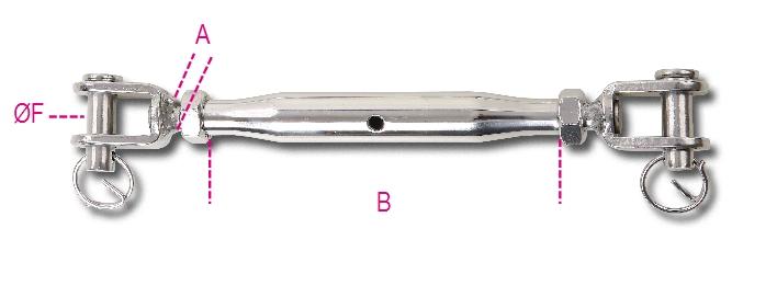Tenditore con canaula a tubo inox AISI 316 - 8210 - BETA utensili