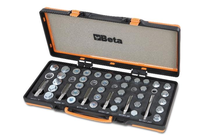 Set riparazione filetti coppa olio 1495/C6 - BETA Utensili