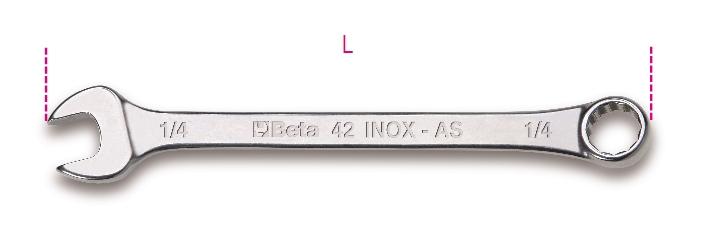 Chiave combinata 42INOX-AS - BETA Utensili