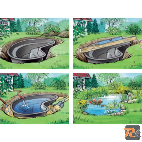 Al ko laghetto artificiale da giardino in pe riciclabile for Accessori per laghetti artificiali