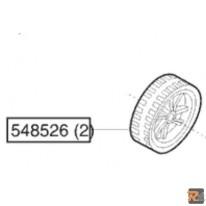 RUOTA ANTERIORE DI RICAMBIO ORIGINALE PER Tosaerba Classic 46BRH cod. 121038 - AL-KO