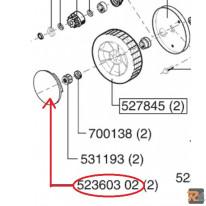 COPRIRUOTA ANTERIORE D180 PER RASAERBA ALKO Sigma SL 45 BR - ex. codice 523601 02 - AL-KO