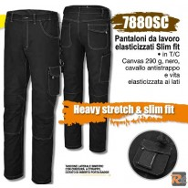 7880SC - Pantaloni da lavoro elasticizzati Slim fit - BETA UTENSILI
