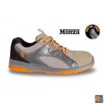 7313T scarpe in pelle scamosciata con inserti in nylon mesh e PU