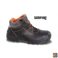 7221PE -  scarpe alte in pelle idrorepellente con inserti in nylon Rapido sfilamento, copripuntale di rinforzo in poliuretano ed inserto rifrangente sul tallone - BETA UTENSILI