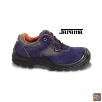 7224PE -  scarpe in pelle scamosciata traforata con inserti in nylon, copripuntale di rinforzo in poliuretano ed inserto rifrangente sul tallone - BETA UTENSILI