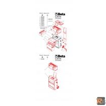 COPPIA CHIUSURE per trolley C41 H (RICAMBIO) - BETA UTENSILI