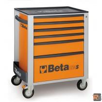 CASSETTIERA MOBILE ARANCIONE CON SEI CASSETTI (C24S6/O+ ASSORTIMENTO 5904VI/1T) - BETA UTENSILI