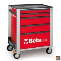 C24S/5 - 2400S58 - CASSETTIERA MOBILE CON CINQUE CASSETTI - VUOTA - BETA UTENSILI