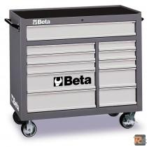C38 - 3800 - CASSETTIERA MOBILE CON UNDICI CASSETTI - VUOTA - BETA UTENSILI