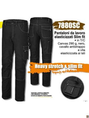 7880SC - Pantaloni da lavoro elasticizzati Slim fit