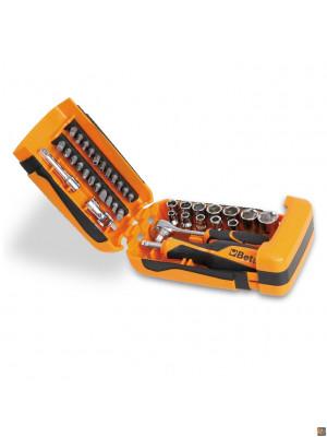 900/C39 - Assortimento di 11 chiavi a bussola esagonali, 21 inserti per avvitatori e 7 accessori