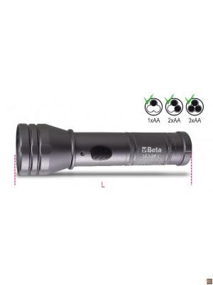 1834PL - Torcia LED ad alta luminosità in robusto alluminio anodizzato, fino a 500 Lumen