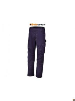7840BL - pantaloni da lavoro in T/C twill 245 g, blu