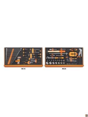 5927VU/M - Assortimento di 108 utensili in termoformato morbido