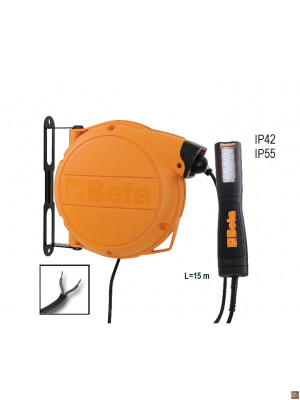1846LED/ABM - Avvolgitore automatico completo di lampada a LED alimentazione 12-24V AC/DC
