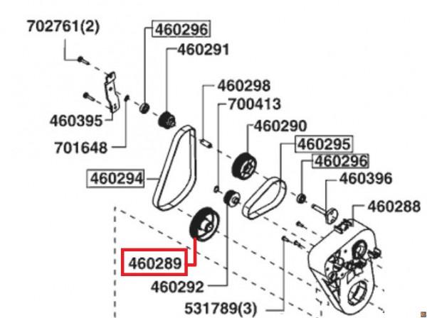 INGRANAGGIO DI RICAMBIO PER ARIEGGIATORE ALKO COMFORT 38VLE COMBI CARE - COD. 474322 (EX COD. 460289)