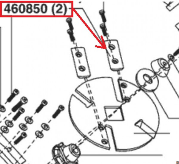 KIT 2 LAME PER BIOTRITURATORE NEWTEC 2400R - RICAMBIO ORIGINALE ALKO