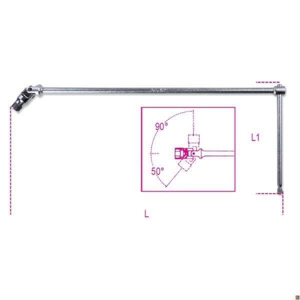 852 - portainserti a T snodato c/esagono da 10mm
