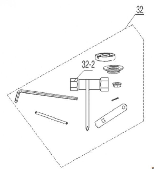 Kit accessori per BC 1200 (art. 112924) - cod. 413755 - ORIGINALE ALKO