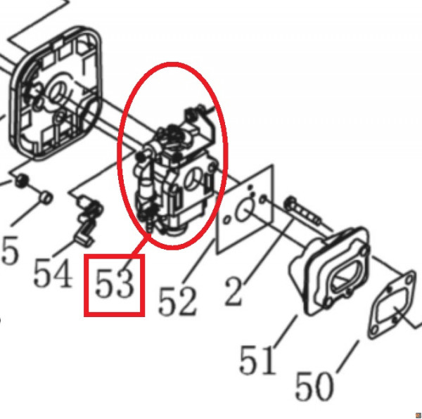 CARBURATORE ALKO PER DECESPUGLIATORE FRS 410 - ORIGINALE ALKO - cod. 462606