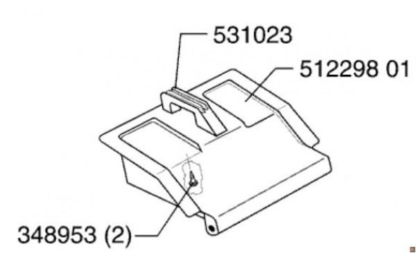 Parasassi di ricambio per cesto rasaerba Sigma SL 45 BR