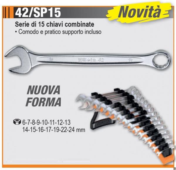 42/SP15 - Serie di 15 chiavi combinate - BETA UTENSILI
