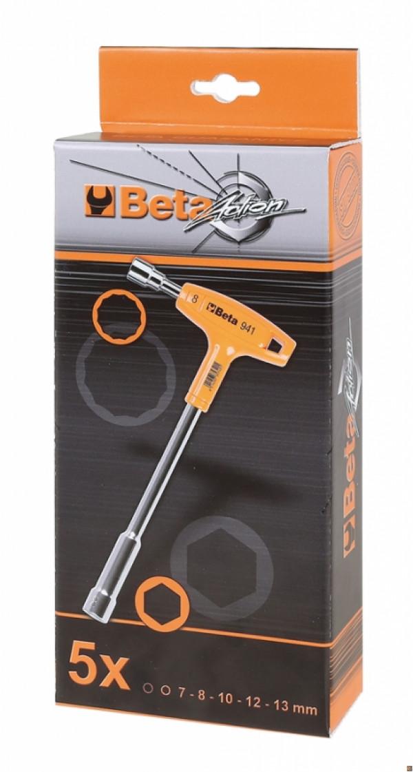Poligonali Beta Utensili  941//S5 Beta tools Set chiavi pipa Beta Esagonali