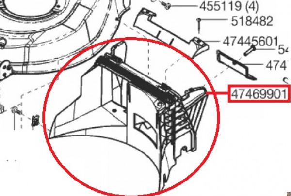 CONVOGLIATORE DI RICAMBIO ORIGINALE PER Tosaerba AL-KO HIGHLINE 51.3 SP - codice macchina 119477