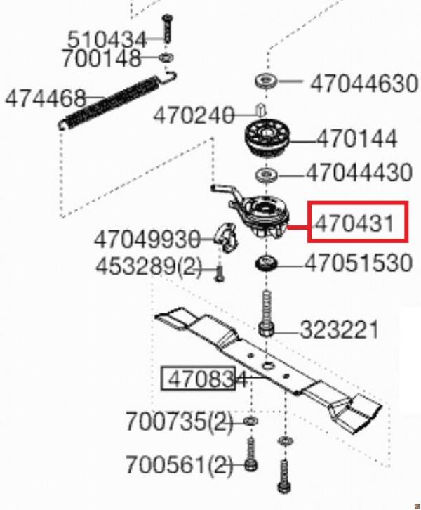 FRIZIONE DI RICAMBIO PER RASAERBA ALKO POWERLINE 5300BRVC - 470431 - ricambio originale ALKO