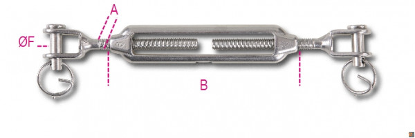 8209 - TENDITORI A DUE FORCELLE INOX - M5