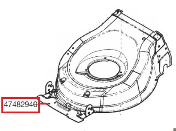 SCOCCA DI RICAMBIO ORIGINALE PER Tosaerba AL-KO HIGHLINE 51.3 SP - codice macchina 119477
